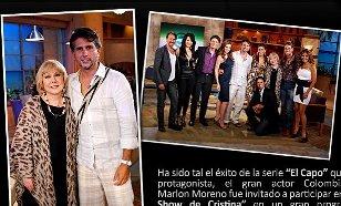 Marlon Moreno en el show de Cristina