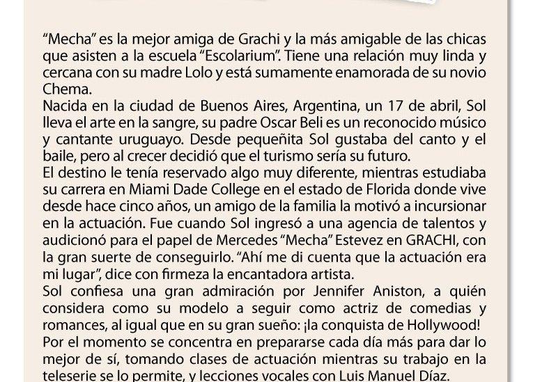 """Sol Rodríguez se luce como Mecha en """"Grachi"""""""
