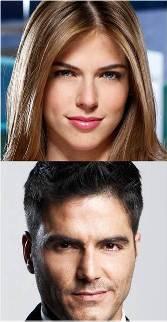 Stephanie Cayo y Ernesto Calzadilla en La hipocondríaca